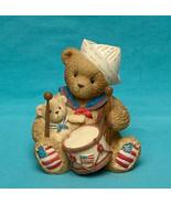 Cherished Teddies bear figurine Gregory 2001 Enesco Avon sailor drummer - $7.00