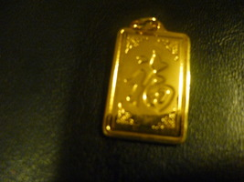 Haunted Male  Black Dragon Protitive And Loyal  9 K Gold Overlay - $200.00