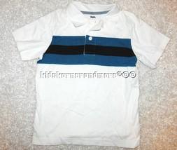 Gymboree Spy Guys 5 Black Blue Striped Polo Shirt Boys New - $13.93