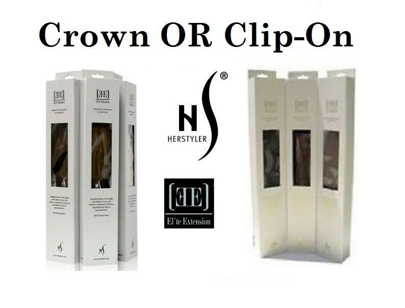 Herstyler Human Hair Extensions 18 Inch Elite Clip On OR Crown Adjustable Wire - $99.99