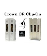 Herstyler Human Hair Extensions 18 Inch Elite Clip On OR Crown Adjustabl... - $99.99