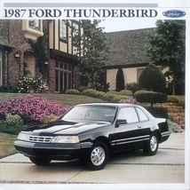 1987 Ford THUNDERBIRD sales brochure catalog US 87 LX Turbo Coupe TC - $9.00
