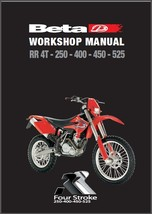Beta RR 250 400 450 525 4T Enduro Service Repair Workshop Manual CD - $12.00