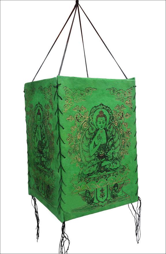 Natural Lokta Paper Shakyamuni Buddha Lamp Shade NEPAL