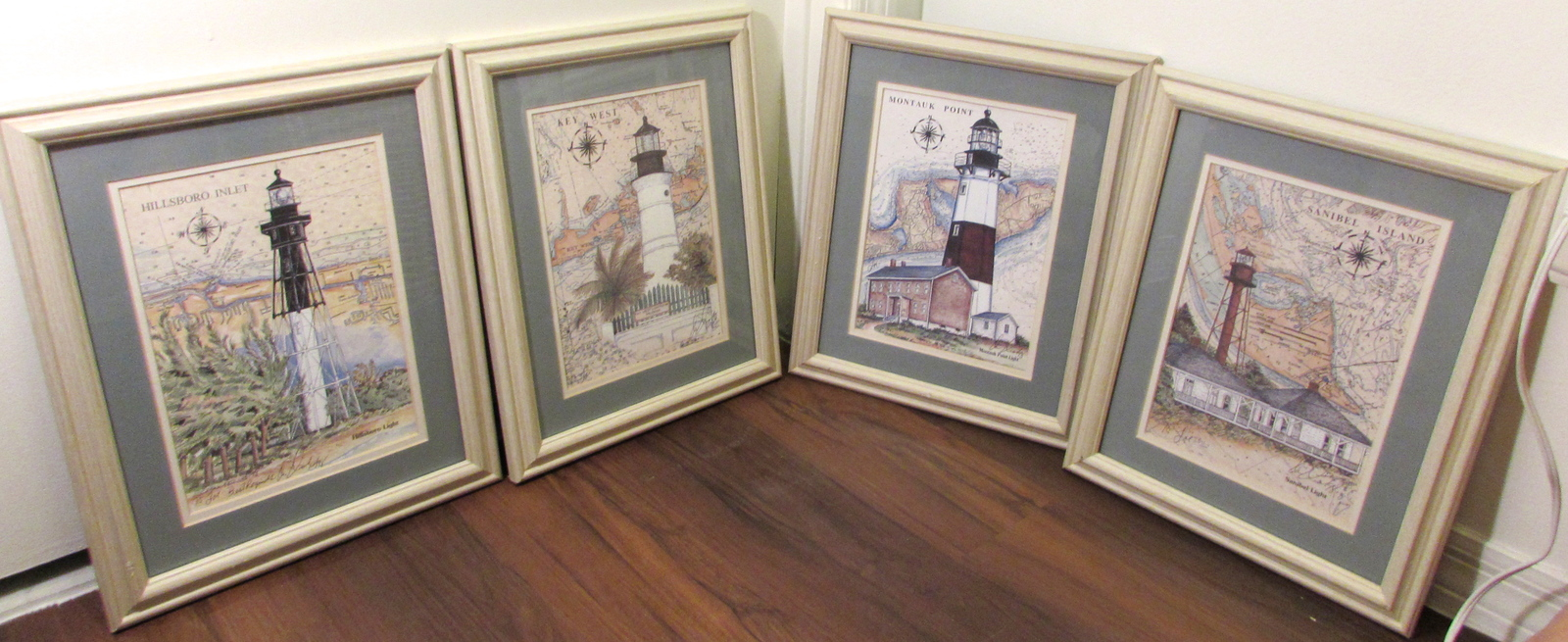 The Collectors Great American Lighthouse Series Featuring Donna Elia's Set of 4
