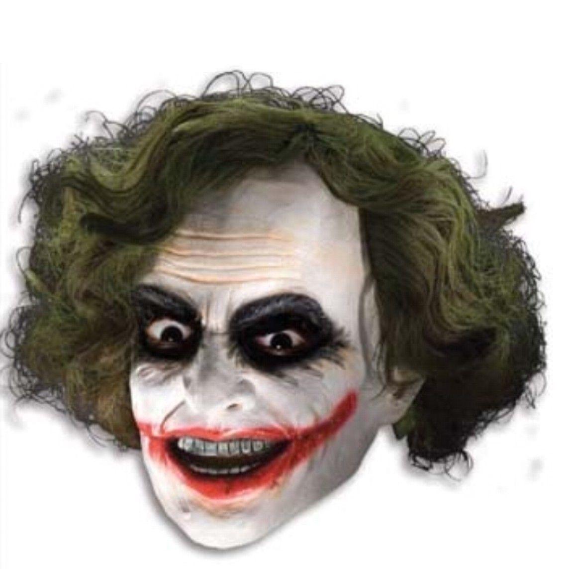 Batman - Joker 3/4 Mask w/ Hair - Adult - Heath Ledger Dark Knight Style