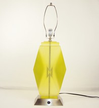 Translucent Poly Resin Table Lamp w/120V Outlet ~Nickel Base (No Shade) ... - $88.15