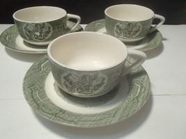 3 Sets of Vtg Royal China Old Curiosity Cups & Saucers - $8.95