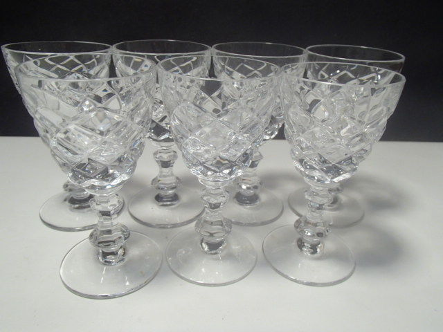 7 CRYSTAL CORDIALS~~~EXCEPTIONAL~~~Waterford look-a-like~~check m out