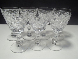 7 CRYSTAL CORDIALS~~~EXCEPTIONAL~~~Waterford look-a-like~~check m out - $22.95