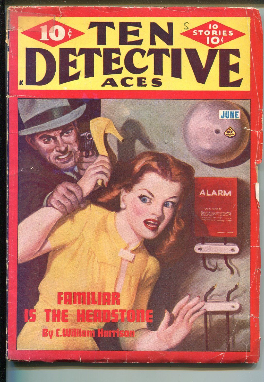Primary image for Ten Detective Aces 6/1946-Ace-villain attacks babe-violent--hardboiled-pulp-VG