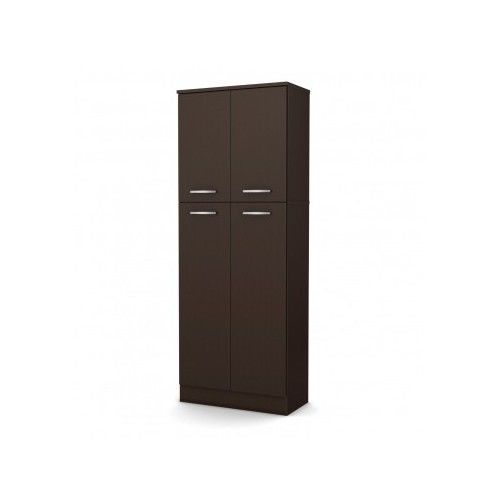 Storage Pantry Cabinet Chocolate Kitchen Cupboard Tall Organizer Food Doors Home Cabinets