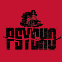 Psycho House T shirt Alfred Hitchcock classic movie red cotton tee UNI201 image 2