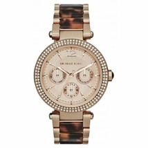 Michael Kors MK5881 Darci Rose Gold Tortoise Wrist Watch for Women - £73.43 GBP