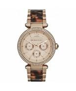 Michael Kors MK5881 Darci Rose Gold Tortoise Wrist Watch for Women - $116.91