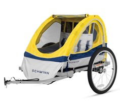 Schwinn 13-SC677AZ Echo Double Bike Trailer, Yellow, Best Outdoor Fun  - $203.18