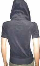 Victoria's Secret $50 Navy Blue Short Sleeve Hoodie Sweatshirt XS - $22.00