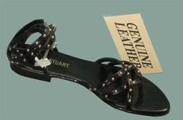 NIB Victoria's Secret $55 Black Leather Anklewrap Brass Studded Sandals 5 - €22,96 EUR