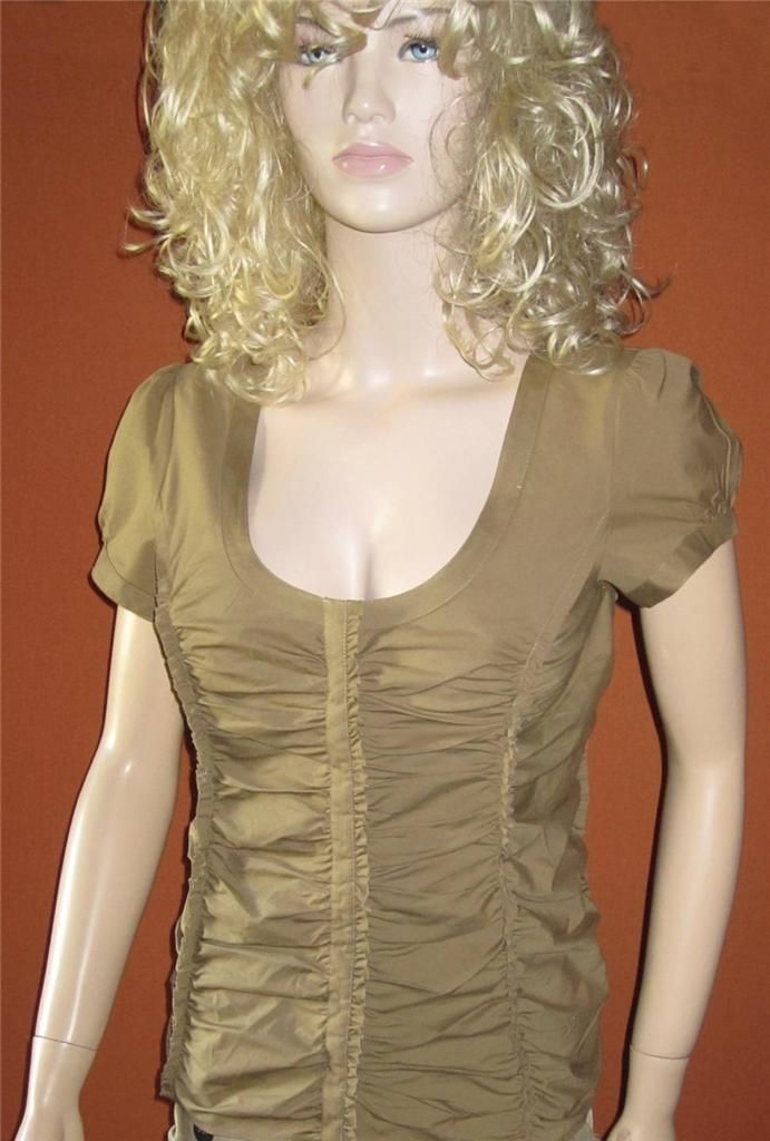 Taupe Blouse Short Sleeve 67