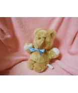 Vintage Eden Toys Korea Fluffy Teddy Bear w/blue boy Plush Lovey Doll L@@K - $15.80