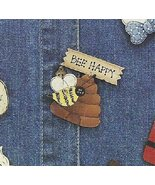 Lot of 12 Ready To Paint BEE  PINS  w/ PATTERN ,Instructions 36 pc  New - $9.99