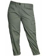 Tommy Hilfiger Women's Cropped Cargo Pants Capri Ammunition Green  Sz 4 ... - $17.79