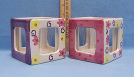 2  Square Photo Cubes with Planter Holds 4 Photos & Flower Plant Mothers... - $17.81