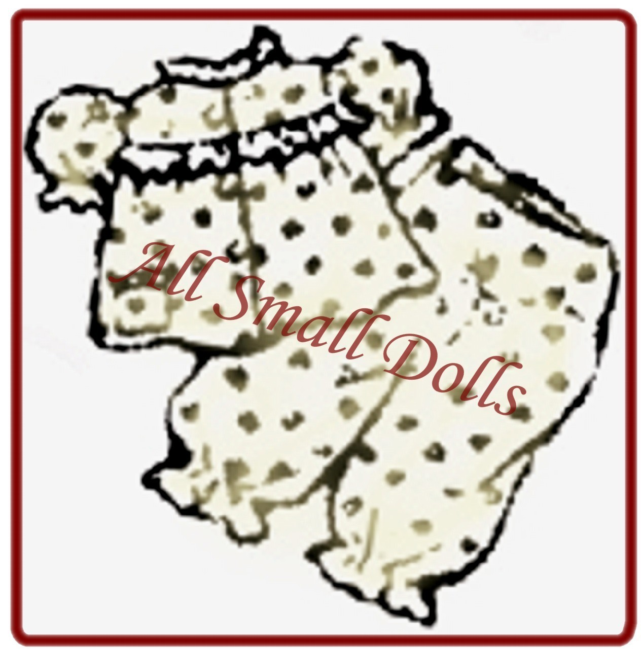 "Vintage Pattern for 91/2"" Cloth Doll with Wardrobe no. 4"