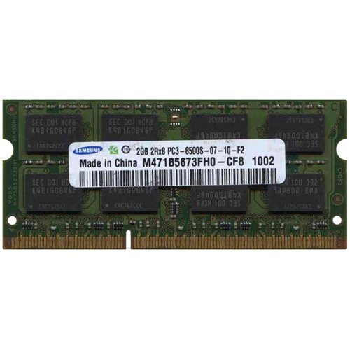 Primary image for Samsung 2GB PC-8500 DDR3 1066MHz SO-DIMM 204 Pin 2.0GB Memory Upgrade Modules M4