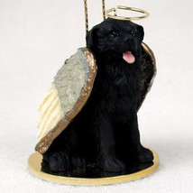 NEWFOUNDLAND ANGEL DOG CHRISTMAS ORNAMENT HOLIDAY Figurine Statue - $12.98