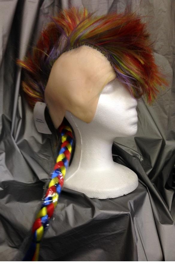 Wig mohawk rainbow
