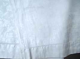 """Antique Table Runner - Damask Runner Daisy Pattern -Antique White - 37""""x23""""#6264 - $8.99"""