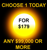 THROUGH FRI ONLY 1 $99,000 OR MORE FOR $179 INCLUDES NO DEALS MYSTICAL T... - $0.00