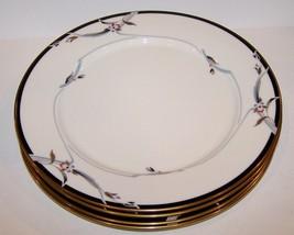 "Stunning Set Of 4 Gorham Fine China Manhattan 10 1/2"" Dinner Plates - $50.08"