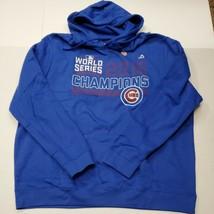 NWOT Chicago Cubs 2016 World Series Champions Blue Hoodie Sweatshirt 2XL... - $24.74