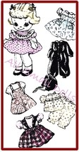 """Vintage Pattern for 91/2"""" Cloth Doll with Wardrobe no. 4 - $5.99"""