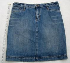 IZOD Jeans Mini Skirt Short Above Knee Indigo Blue Denim Womens Pockets ... - $24.00
