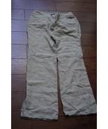 """ANN TAYLOR LOFT Natural Linen """"Julie"""" Trousers Pants - Size 6 Petite - $17.09"""