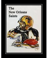 Vintage 1980 New Orleans Saints Football Poster NFL Program Wall Art Gift  - $19.99+