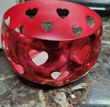 """Lot 4 HEARTS  Candle Holder,WITH  Clear Glass, 2 1/4"""" F-35 - $19.79"""