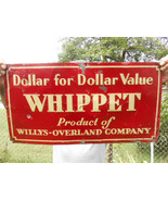 Vintage Metal Sign Whippet Willys Overland Embo... - $741.84