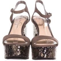 Jessical Simpson Whirl Platform Sandals 726, Beige, 8.5 US - $48.95