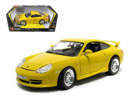Porsche 911 GT3 Strasse Yellow 1/18 Diecast Model Car by Bburago - $55.42