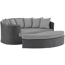 Sojourn Outdoor Patio Sunbrella® Daybed Canvas Gray EEI-1982-CHC-GRY - $1,151.00