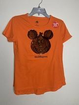 NWT Walt Disney World Girls Halloween Reversible Sequin Pumpkin Mickey Shirt, XL - $23.36
