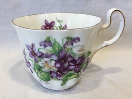 Adderley Bone China England Tea Cup Purple Flowers Gold Trim - $9.99