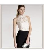 Haute Ivory Lace Layered Over Backless Velour Sleeveless Sexy Turtleneck... - $46.95