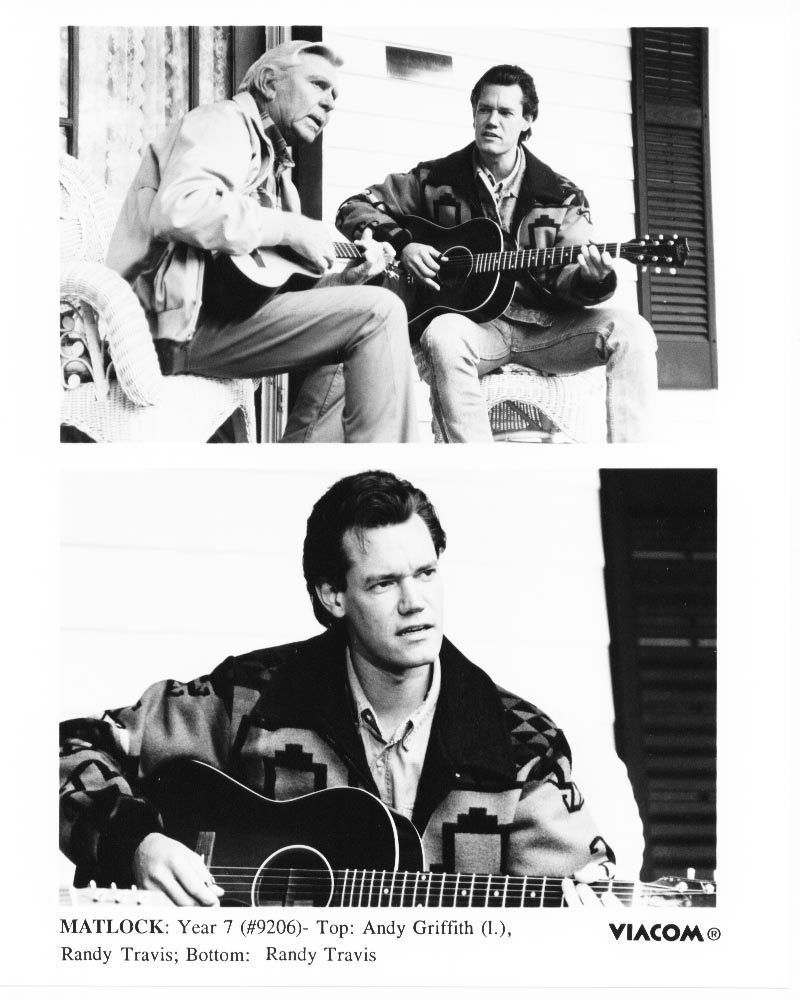 Matlock Andy Griffith Randy Travis  Press Publicity Photo TV Year 7
