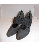 """Bettye Muller 4"""" Kitten High Heel Gray Fabric Shoes Made in Italy Size 3... - $29.66"""