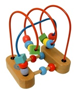 Wood Bead Maze Garanimals Wooden Wire Roller Co... - $10.90